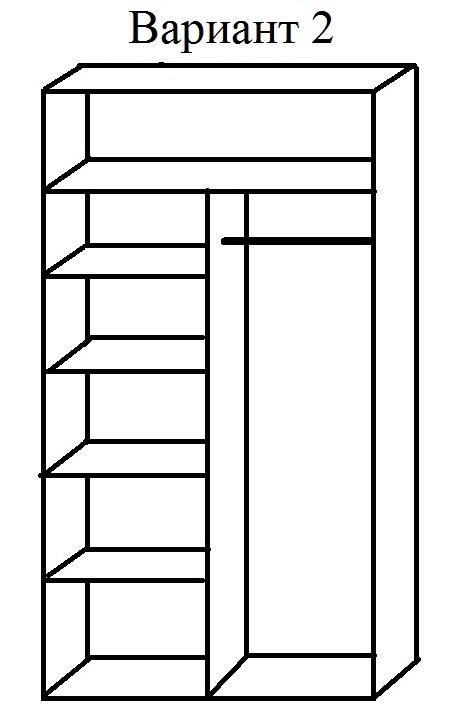 Внутреннее наполнение шкафа-купе Прага